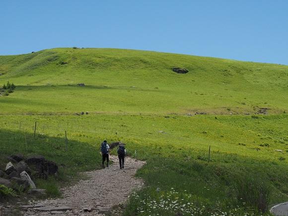 車山山頂へ向かう道
