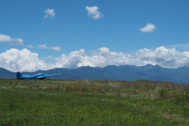 忘れ路の丘から見た八ヶ岳